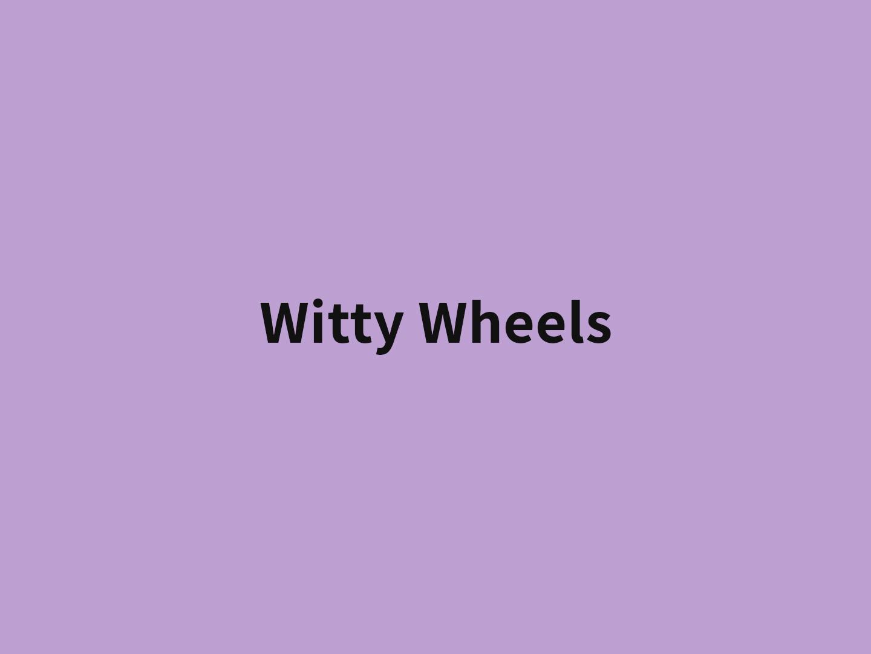witty wheels banner color lavanda