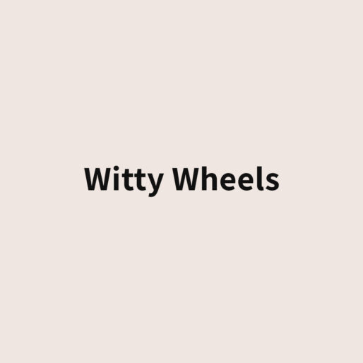 witty wheels banner avorio
